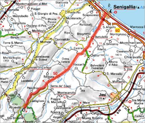 Cartina Italia Senigallia.Comune Di Arcevia Provincia Di Ancona Turismo