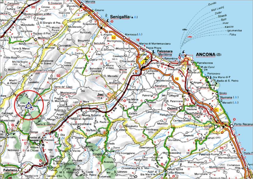 Cartina Geografica Provincia Di Teramo.Comune Di Arcevia Provincia Di Ancona Localizzazione Territoriale E Geografica