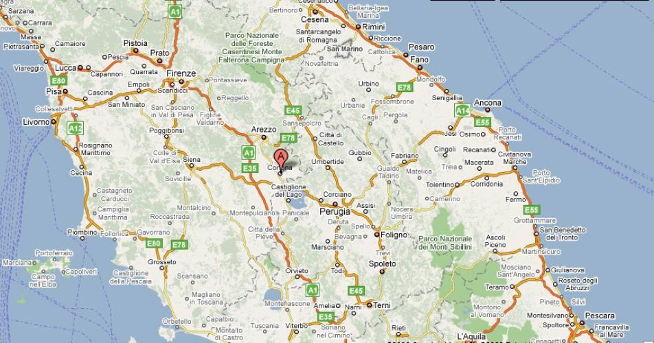 Cortona Cartina Geografica.Comune Di Arcevia Provincia Di Ancona Comuni Gemellati